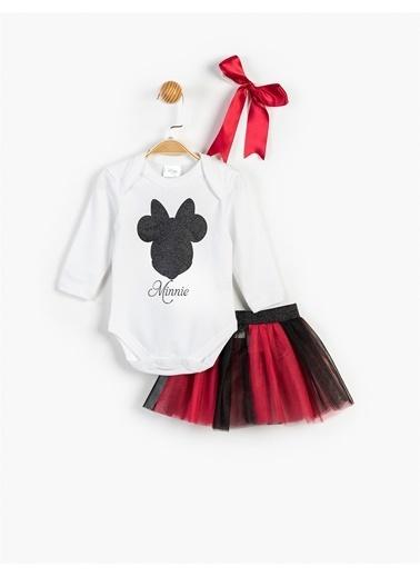 Mickey Mouse Elbise Beyaz